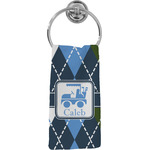 Blue Argyle Hand Towel - Full Print (Personalized)