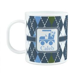 Blue Argyle Plastic Kids Mug (Personalized)