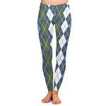 Blue Argyle Ladies Leggings (Personalized)