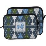 Blue Argyle Laptop Sleeve / Case (Personalized)