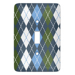 Blue Argyle Light Switch Covers (Personalized)