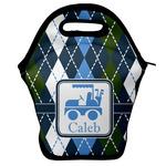 Blue Argyle Lunch Bag (Personalized)