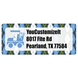 Blue Argyle Return Address Labels (Personalized)