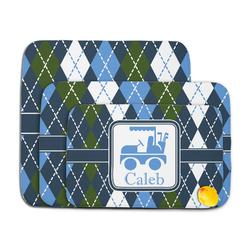 Blue Argyle Memory Foam Bath Mat (Personalized)