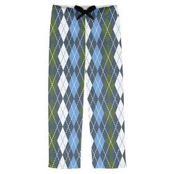 Blue Argyle Mens Pajama Pants (Personalized)