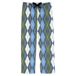 Blue Argyle Mens Pajama Pants (Personalized)