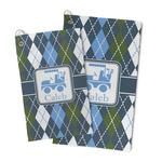 Blue Argyle Microfiber Golf Towel (Personalized)
