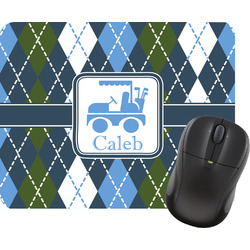 Blue Argyle Mouse Pads (Personalized)