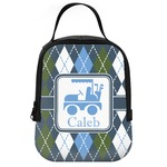 Blue Argyle Neoprene Lunch Tote (Personalized)