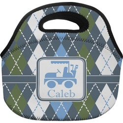 Blue Argyle Lunch Bag (Personalized)