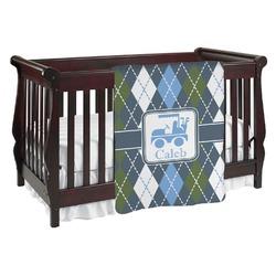 Blue Argyle Baby Blanket (Personalized)