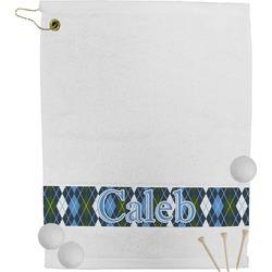Blue Argyle Golf Towel (Personalized)