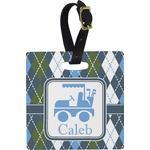 Blue Argyle Luggage Tags (Personalized)