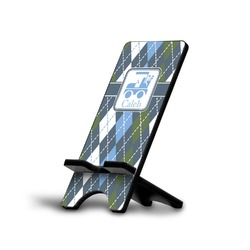 Blue Argyle Cell Phone Stands (Personalized)