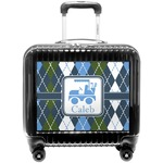 Blue Argyle Pilot / Flight Suitcase (Personalized)