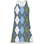Blue Argyle Racerback Dress (Personalized)