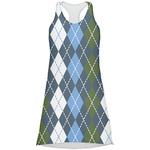 Blue Argyle Racerback Dress (Personalized)
