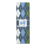 Blue Argyle Runner Rug - 3.66'x8' (Personalized)