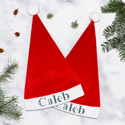 Blue Argyle Santa Hat (Personalized)