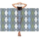 Blue Argyle Sheer Sarong (Personalized)