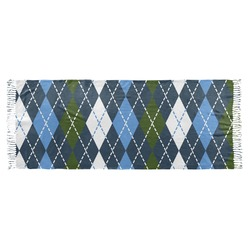 Blue Argyle Faux Pashmina Scarf (Personalized)
