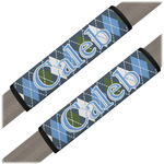 Blue Argyle Seat Belt Covers (Set of 2) (Personalized)