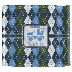 Blue Argyle Security Blanket (Personalized)
