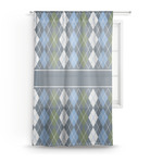 Blue Argyle Sheer Curtains (Personalized)