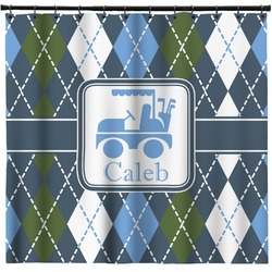 Blue Argyle Shower Curtain (Personalized)