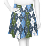 Blue Argyle Skater Skirt (Personalized)