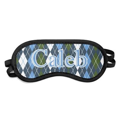 Blue Argyle Sleeping Eye Mask (Personalized)