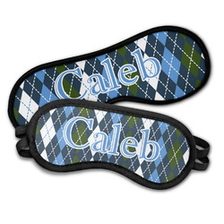 Blue Argyle Sleeping Eye Masks (Personalized)