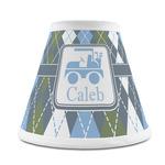 Blue Argyle Chandelier Lamp Shade (Personalized)
