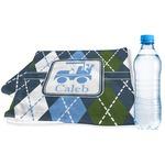 Blue Argyle Sports & Fitness Towel (Personalized)