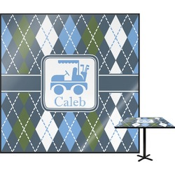 Blue Argyle Square Table Top (Personalized)