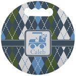 Blue Argyle Stadium Cushion (Round) (Personalized)