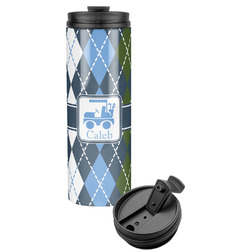 Blue Argyle Stainless Steel Tumbler (Personalized)