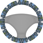 Blue Argyle Steering Wheel Cover (Personalized)