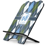 Blue Argyle Stylized Tablet Stand (Personalized)