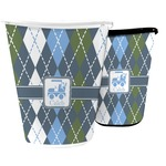 Blue Argyle Waste Basket (Personalized)