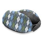 Blue Argyle Travel Neck Pillow