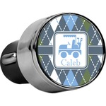 Blue Argyle USB Car Charger (Personalized)