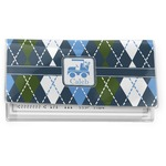 Blue Argyle Vinyl Checkbook Cover (Personalized)