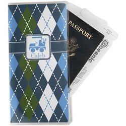Blue Argyle Travel Document Holder