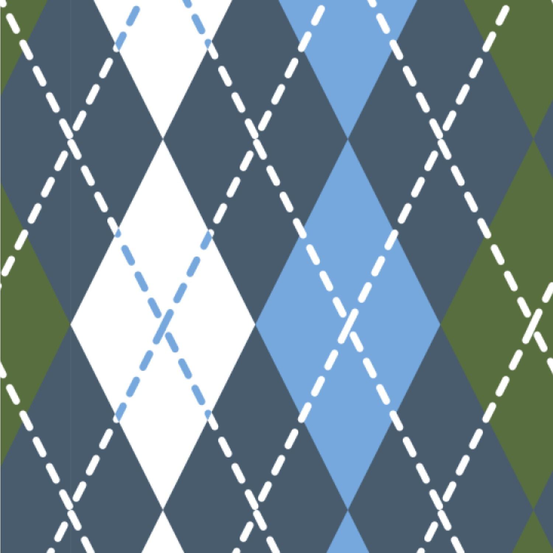 Blue Argyle Wallpaper Surface Covering