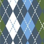 Blue Argyle Wallpaper & Surface Covering