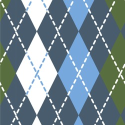 Blue Argyle Wallpaper & Surface Covering