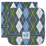 Blue Argyle Facecloth / Wash Cloth (Personalized)