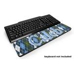 Blue Argyle Keyboard Wrist Rest (Personalized)