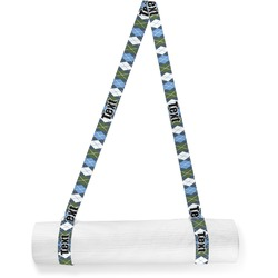 Blue Argyle Yoga Mat Strap (Personalized)